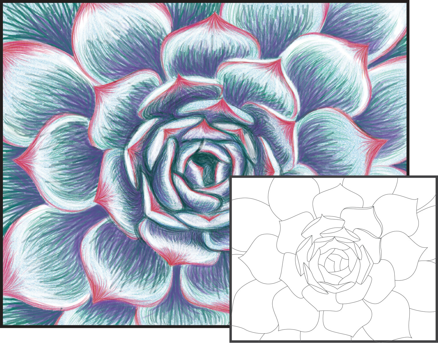 Flower Art Drawing Sketches