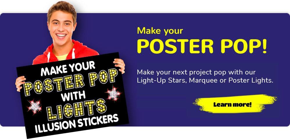 Make your Poster Pop with Lights