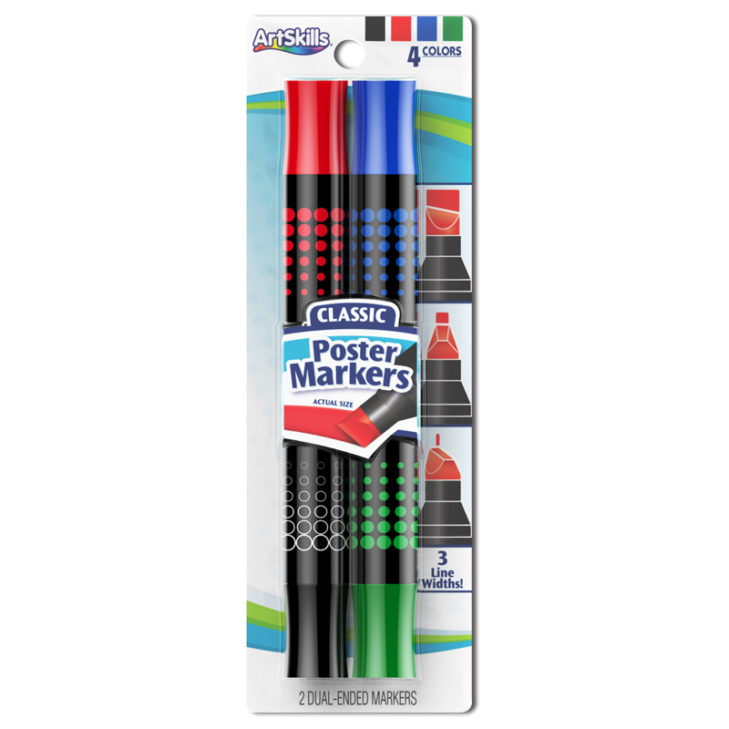 2 pack dualended classic poster markers artskills