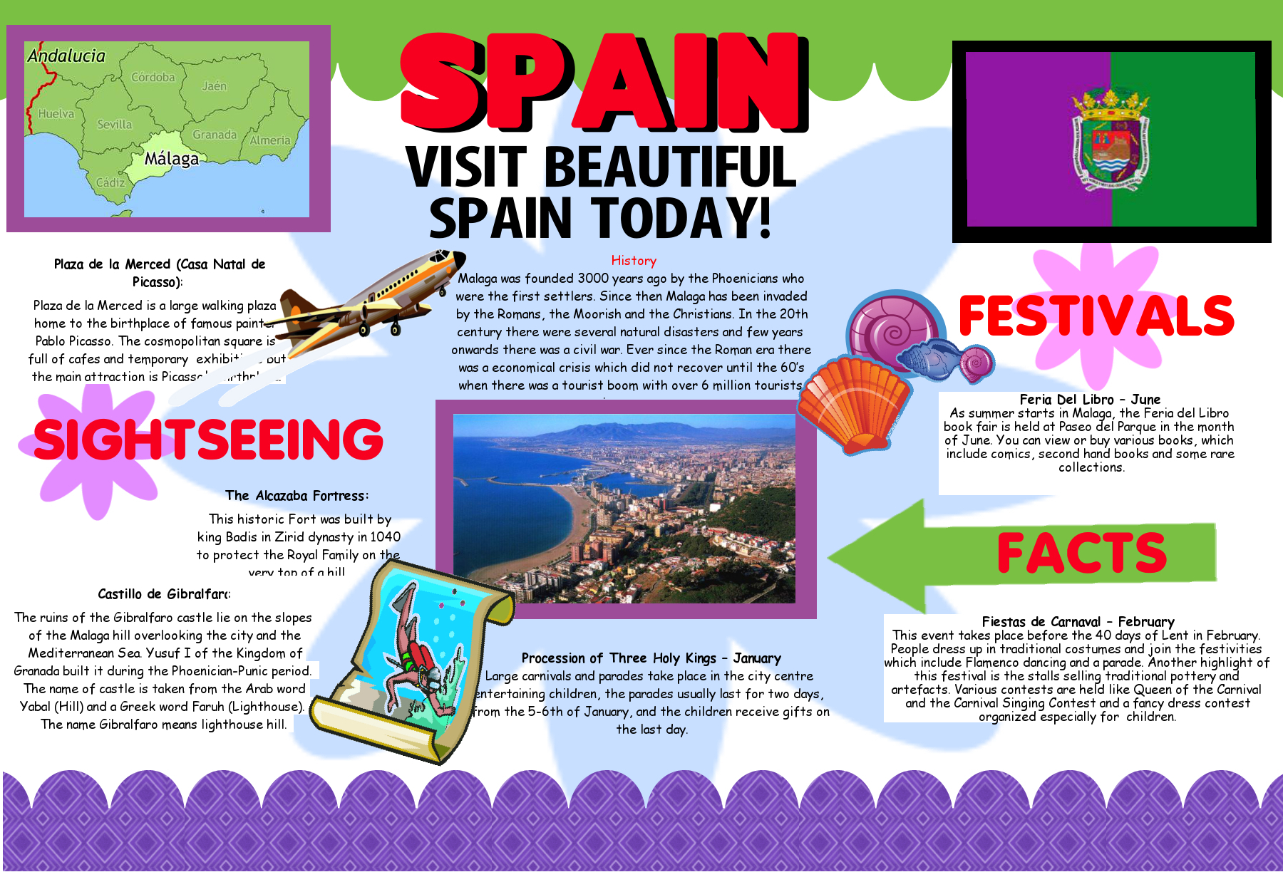 Create a Poster About Spain | Tourism Promotion | Geography