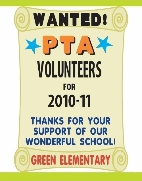 Make A Volunteers Wanted Poster Pta Event Poster Ideas