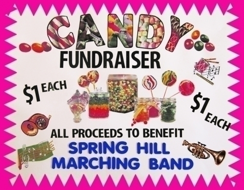 make a marching band candy sale poster fundraiser poster